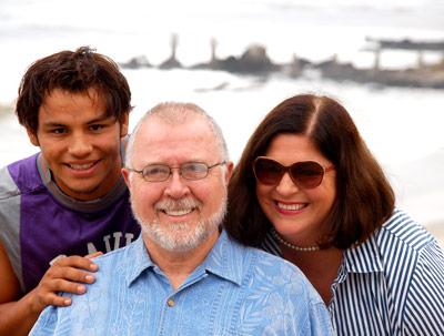 David, Richard and Diane at their beach home